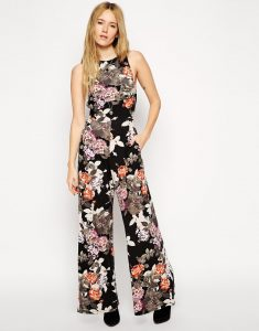 Wide Leg Jumpsuit Floral