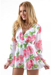 Womens Floral Romper