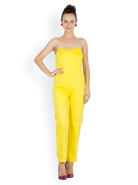 Yellow Jumpsuit Dressedupgirl Com