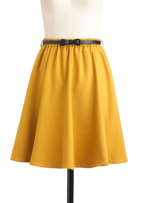 a line skirt dressed up