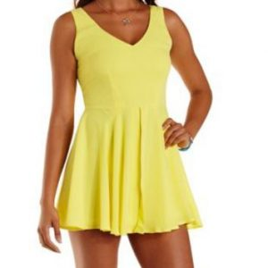 Yellow Romper Dress