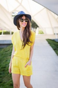 Yellow Romper Outfit