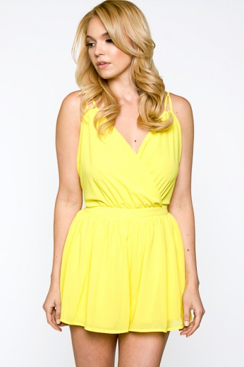 Yellow Romper Dressed Up Girl