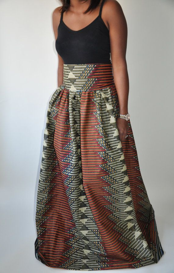 African Skirts Dressed Up Girl