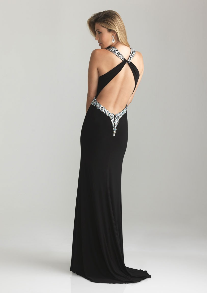 Backless Evening Gowns Dressed Up Girl