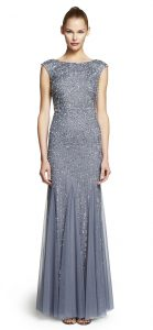 Beaded Cap Sleeve Gown