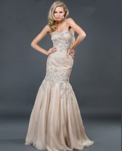 Beaded Champagne Gown