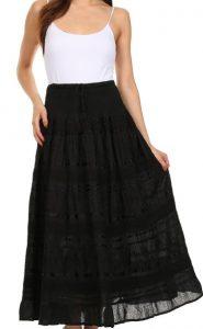Black Boho Skirt