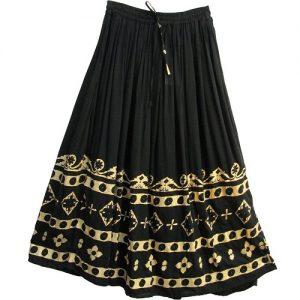 Black Broomstick Skirt