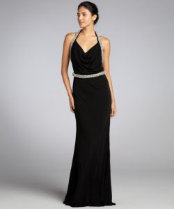 Black Halter Gown