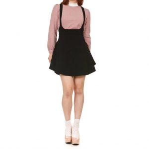 Black Overall Skirt