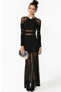 Black Sheer Gown