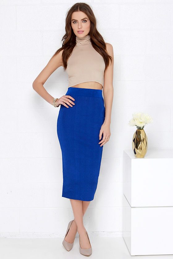 blue skirt dressed up