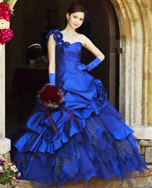 Blue Bridal Gowns
