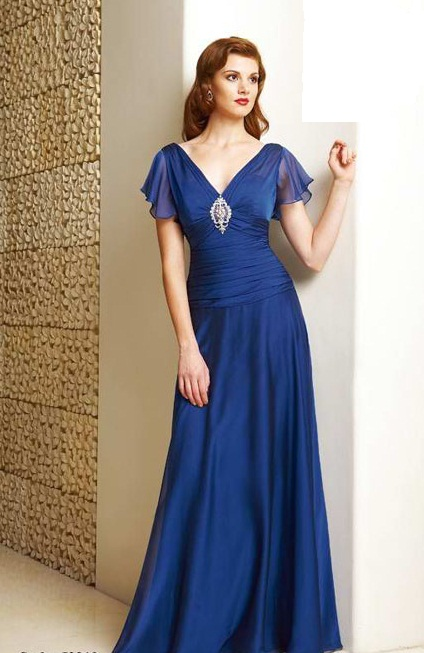 Blue Gown with Sleeves