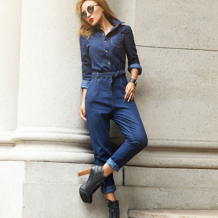 Denim overalls are fun and casual to wear. It makes them easy to style with a basic tee or sweater underneath! If you feel like jazzing it up though, a culotte jumpsuit layered over a knit sweater is super NY-cool.