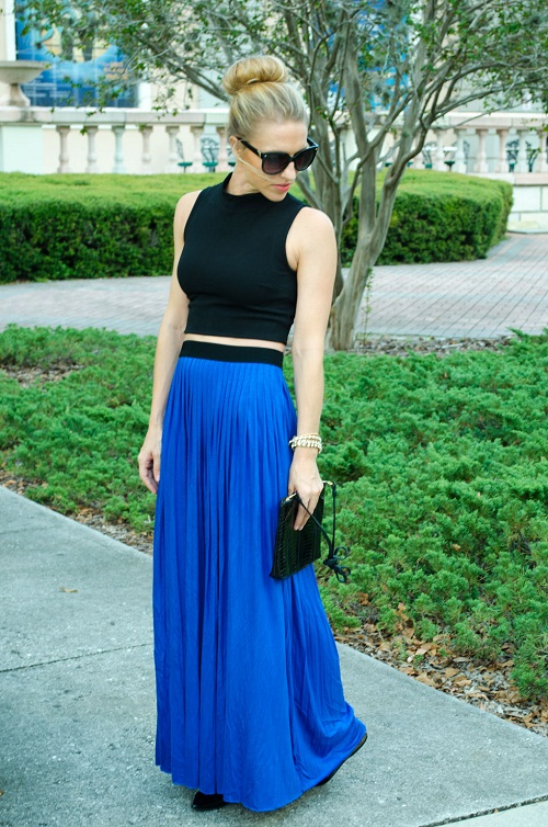 Blue Long Skirt - Skirts