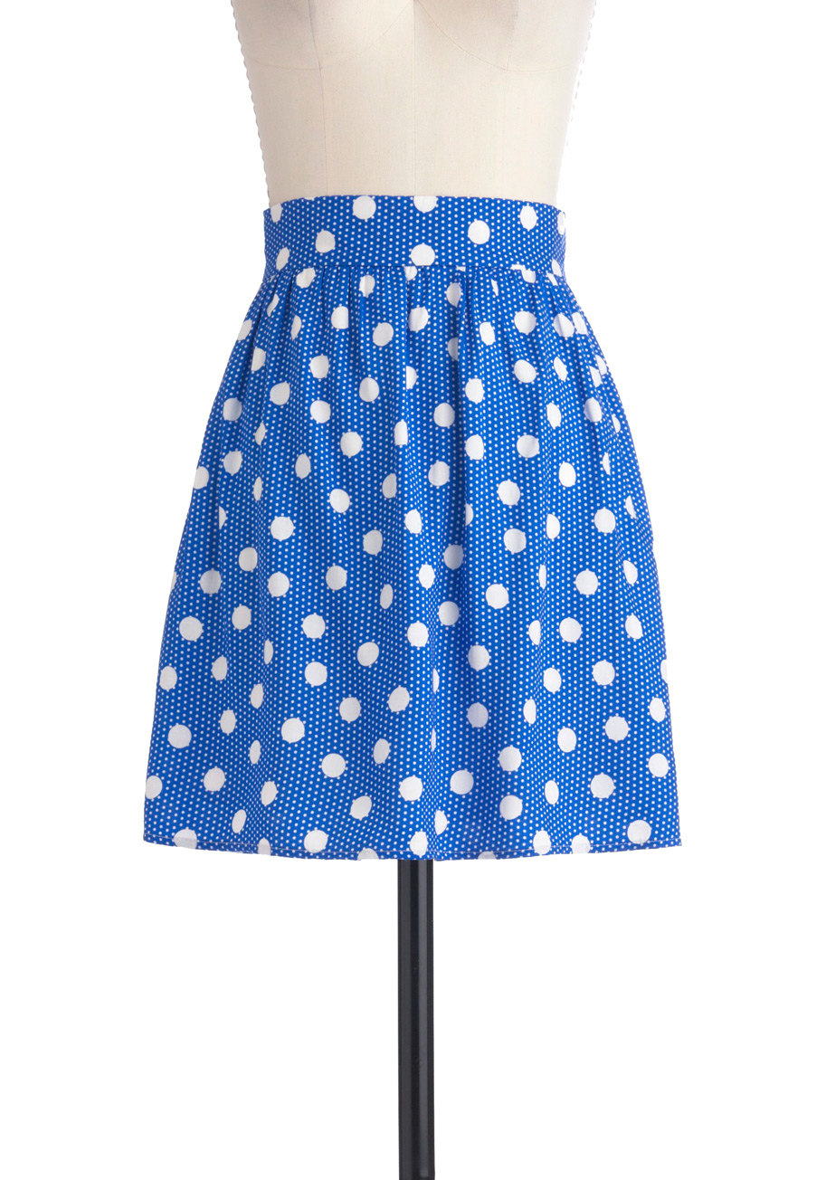 polka dot skirt dressed up