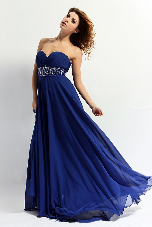 Blue Gown   Dressed Up Girl