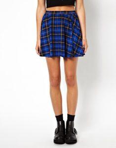 Blue Tartan Skirt
