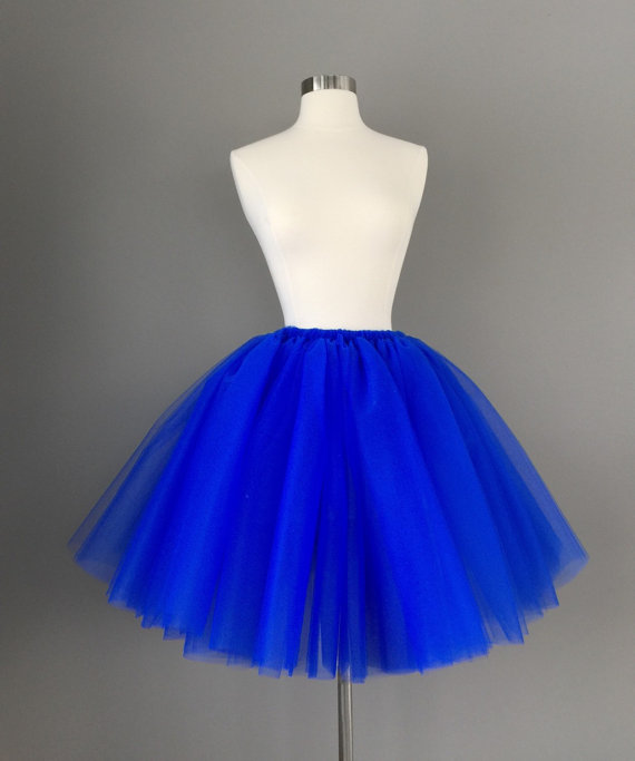 Blue Skirt Dressed Up Girl