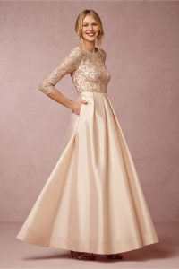 Blush Gown with Sleeves