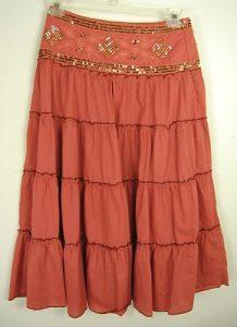 Brown Broomstick Skirt