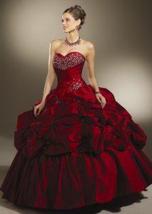 Burgundy Ball Gowns