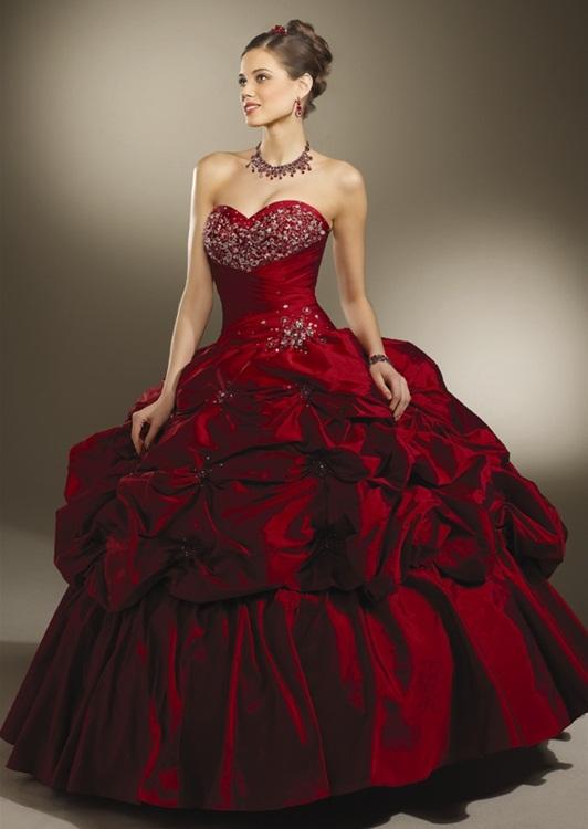 Burgundy Gown Dressedupgirl Com