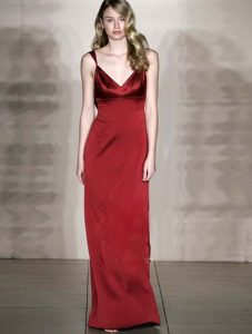 Burgundy Evening Gowns