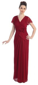 Burgundy Gown Pictures
