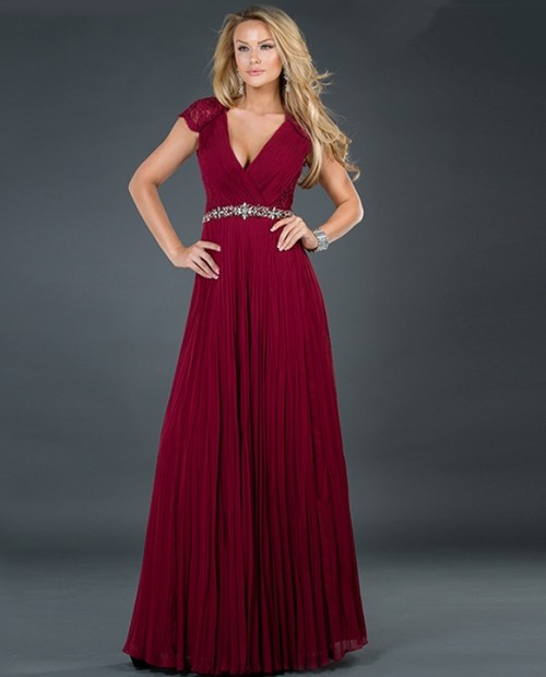 Burgundy Gown | Dressed Up Girl