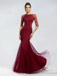 Burgundy Mermaid Gown