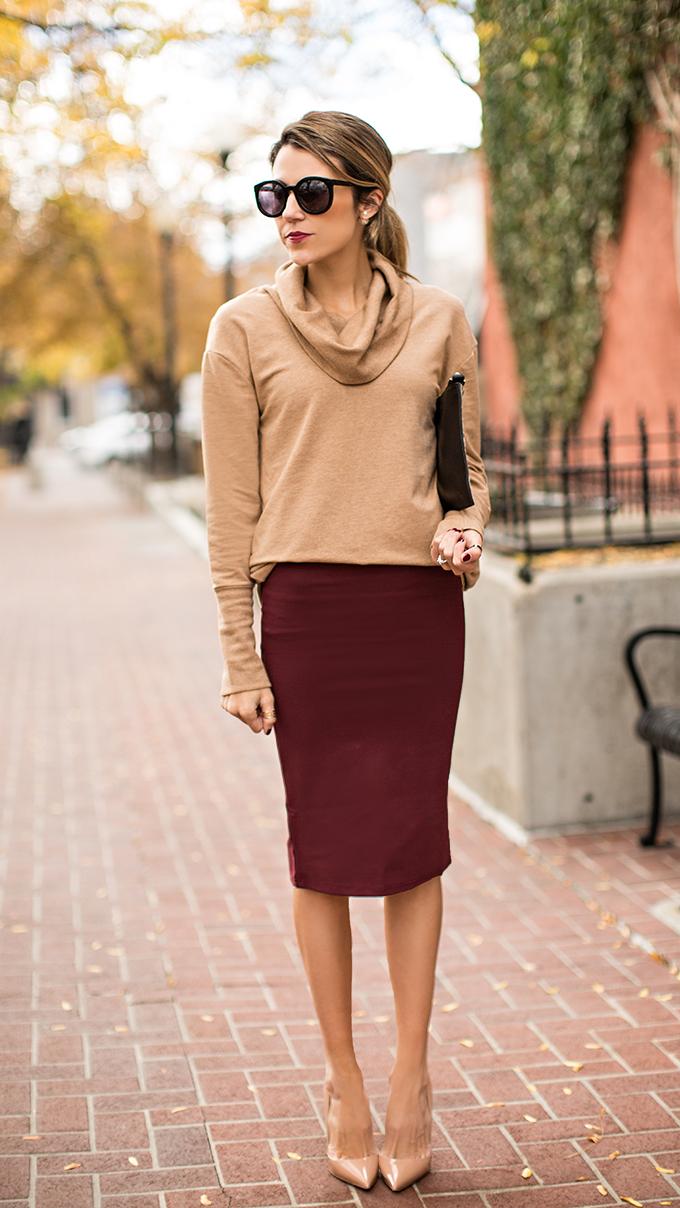Burgundy Skirt | Dressed Up Girl
