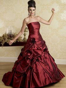 Burgundy Wedding Gowns