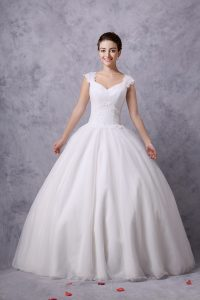 Cap Sleeve Ball Gown