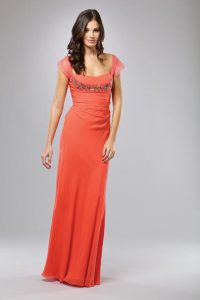 Cap Sleeve Evening Gown