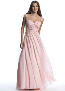 Cap Sleeve Prom Gown