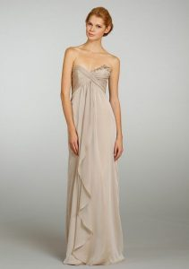 Champagne Bridesmaid Gown