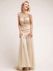 Champagne Evening Gown