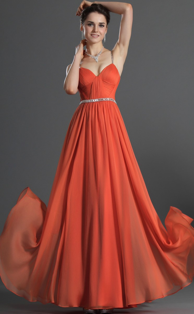 Chiffon Gown Dressed Up Girl