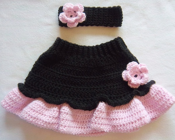 Crochet Skirt Dressed Up Girl