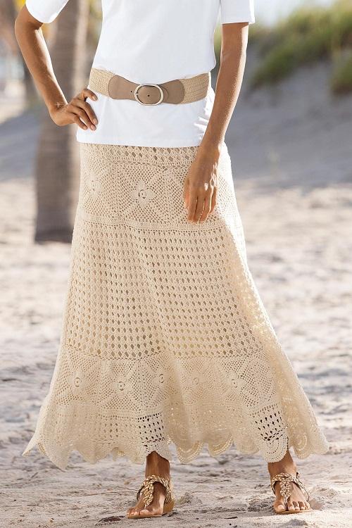 Crochet Skirt Dressedupgirlcom