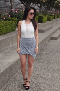 Draped Skirt Outfit