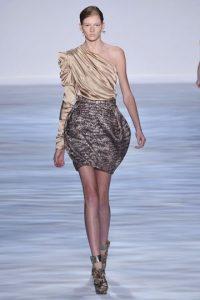 Draped Skirt Runway