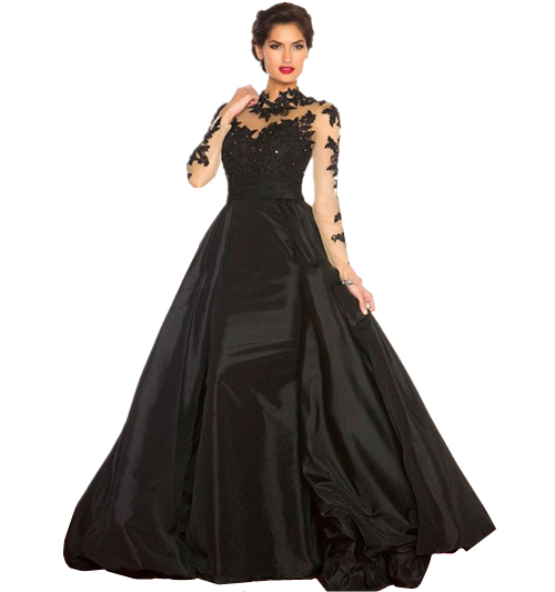 Elegant ball gowns dressed up girl