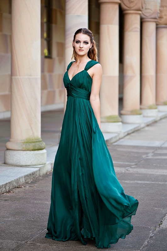 Green Gown | Dressed Up Girl