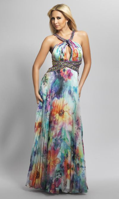 Floral Evening Gown Dressed Up Girl