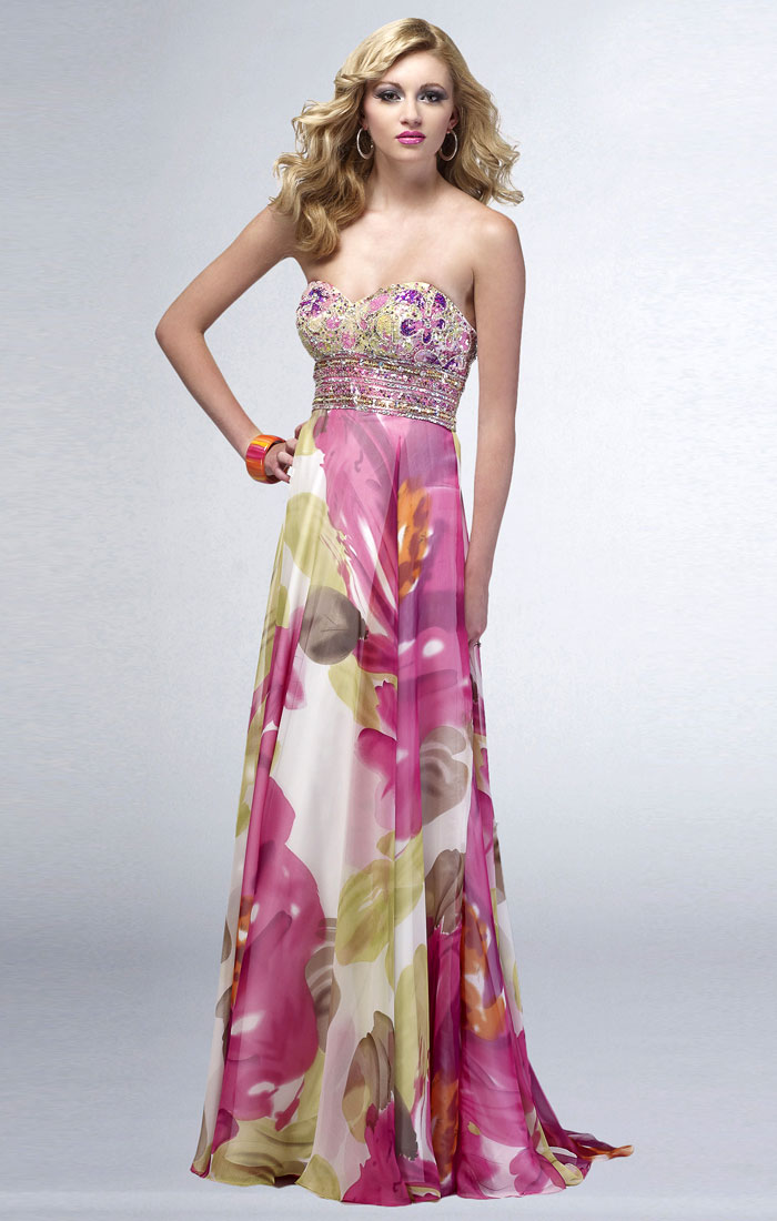 Floral Evening Gown | Dressed Up Girl