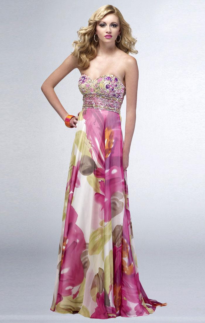 Floral Evening Gown Dressedupgirl Com